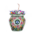 Load image into Gallery viewer, Turkish Ceramic Iznik Design Handmade Embossed Wall Decor Evil Eye-4