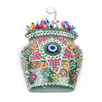 Load image into Gallery viewer, Turkish Ceramic Iznik Design Handmade Embossed Wall Decor Evil Eye-5