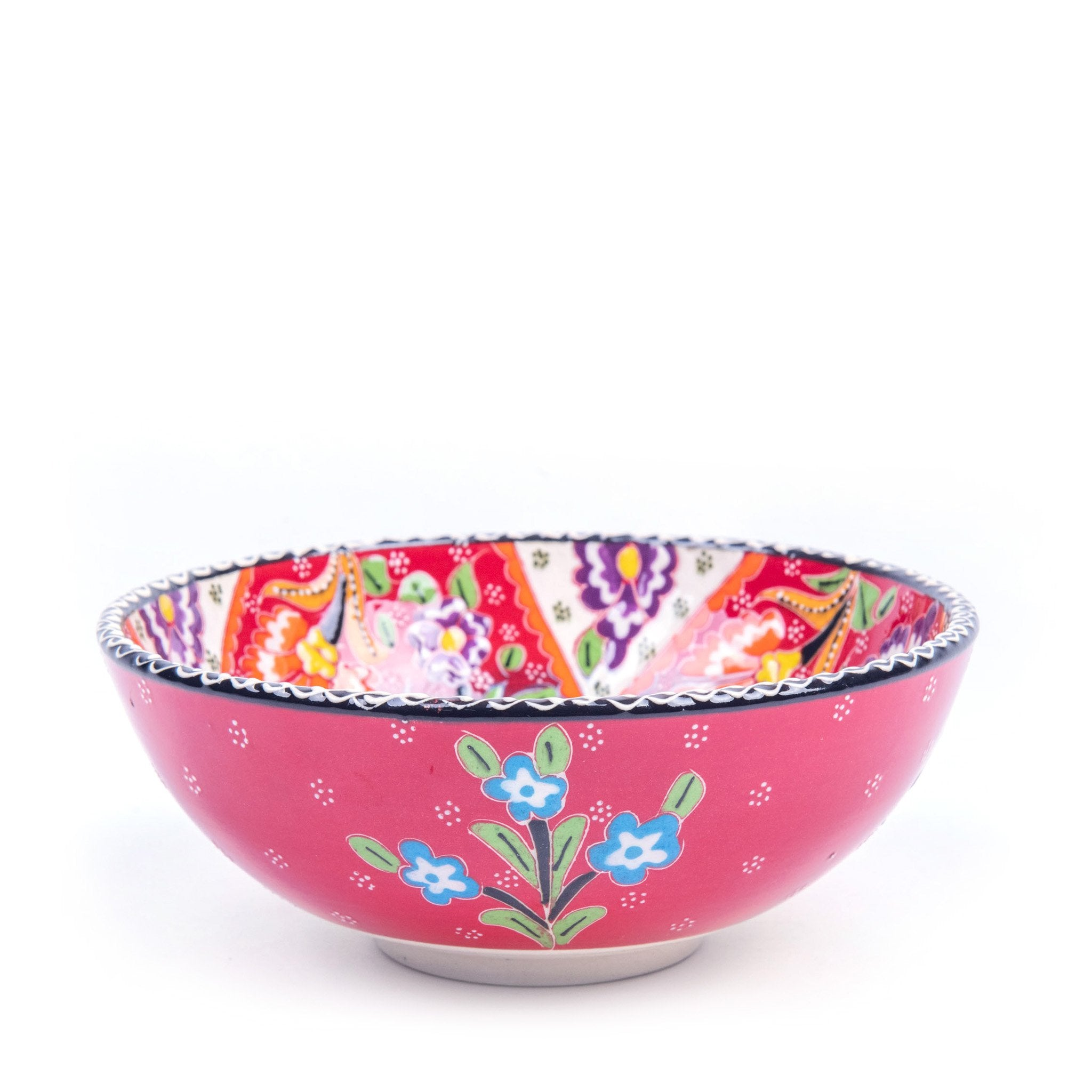 Turkish Ceramic Kutahya Design Handmade Flat Bowl - 15 cm (6'')