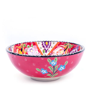 Turkish Ceramic Kutahya Design Handmade Flat Bowl - 15 cm (6'')-1