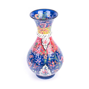 Turkish Ceramic Kutahya Design Handmade Large Vase - 30 cm (12'')-1