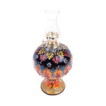 Load image into Gallery viewer, Turkish Ceramic Iznik Design Handmade Oil Lamp With Glass-2
