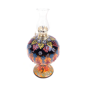 Turkish Ceramic Iznik Design Handmade Oil Lamp With Glass-2