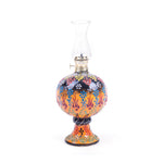 Load image into Gallery viewer, Turkish Ceramic Iznik Design Handmade Oil Lamp With Glass