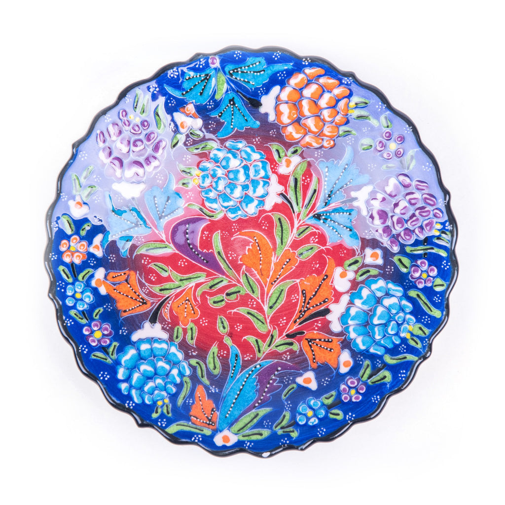 Turkish Ceramic Kutahya Design Handmade Plate - 18 cm (7.2'')