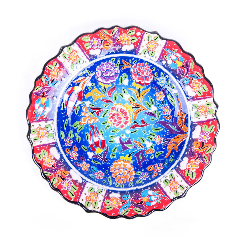Turkish Ceramic Kutahya Design Handmade Plate - 25 cm (10'')