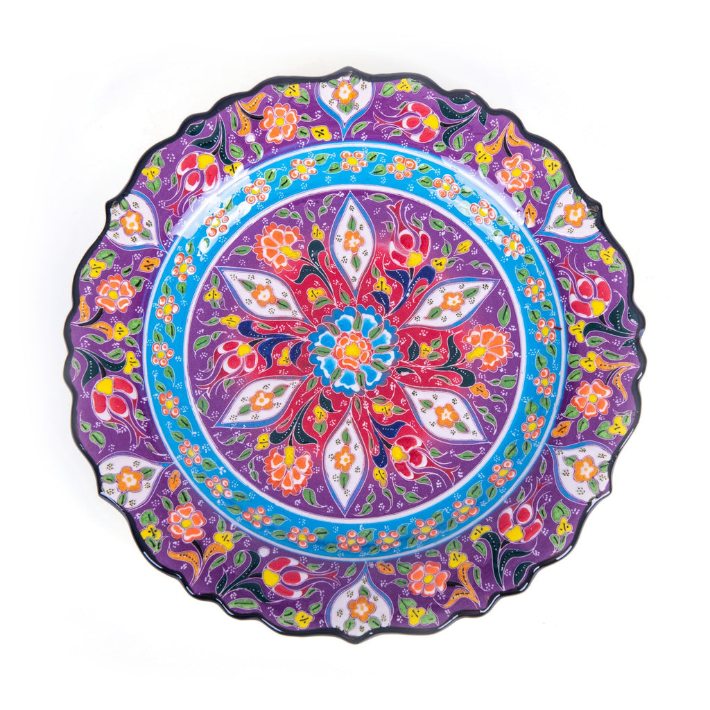Turkish Ceramic Kutahya Design Handmade Plate - 30 cm (12'')