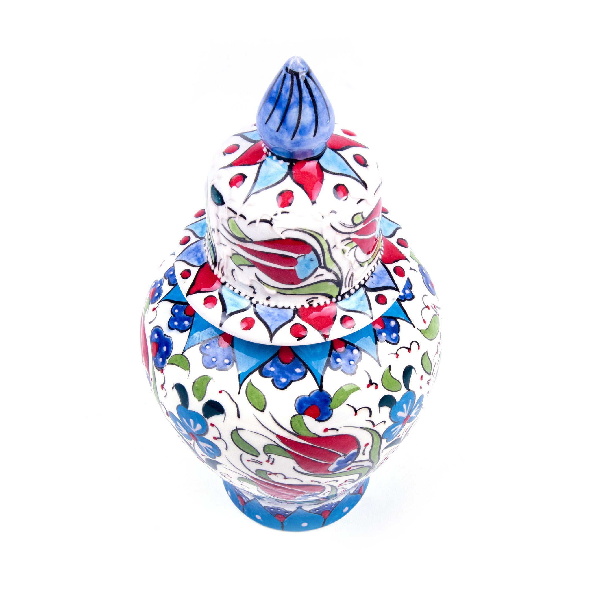 Turkish Ceramic Iznik Design Handmade Samur Shah Jar-1