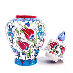 Turkish Ceramic Iznik Design Handmade Samur Shah Jar-2