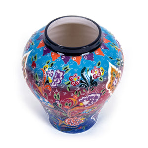 Turkish Ceramic Kutahya Design Handmade Shah Jar - 32 cm (12.8'')-4