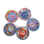 Load image into Gallery viewer, Turkish Ceramic Kutahya Design Handmade V Relief Bowl Set Of Five - 12 cm (4.8'')-1