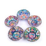 Load image into Gallery viewer, Turkish Ceramic Kutahya Design Handmade V Relief Bowl Set Of Five - 12 cm (4.8'')-5