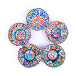 Load image into Gallery viewer, Turkish Ceramic Kutahya Design Handmade V Relief Bowl Set Of Five - 12 cm (4.8'')