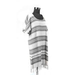 Load image into Gallery viewer, Turkish Towel, Black Beach Dress With Striped-Side