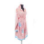 Load image into Gallery viewer, Turkish Towel, Bamboo Bathrobe With Hood-Side