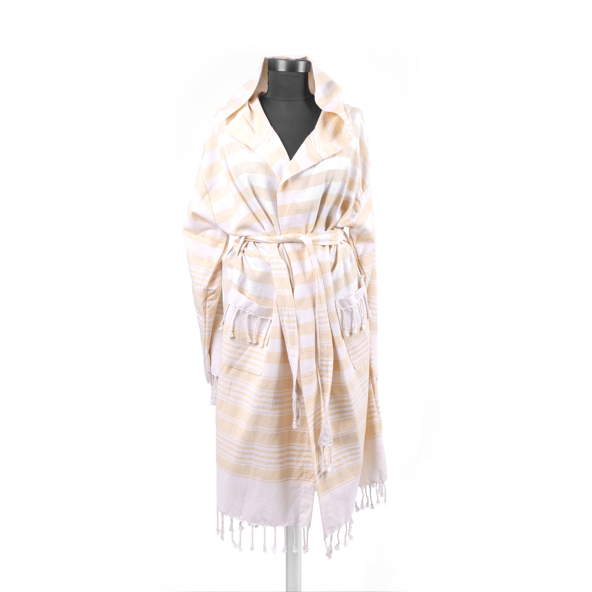 Turkish Towel, Hooded Yellow Bathrobe