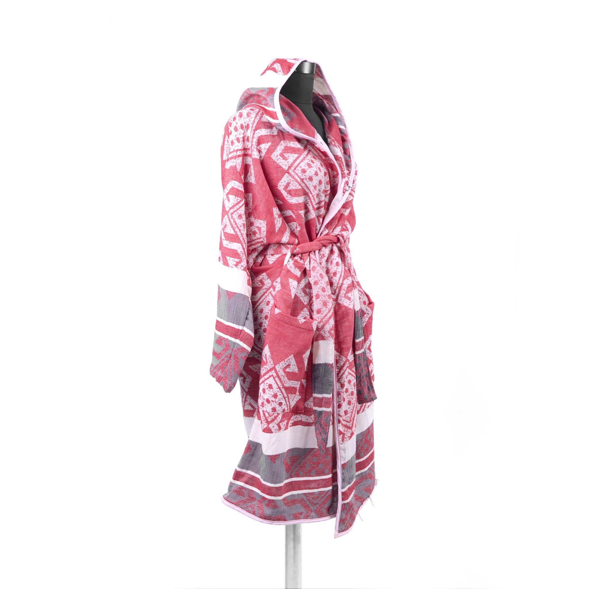 Turkish Towel, Mythology Bathrobe With Hood - Side
