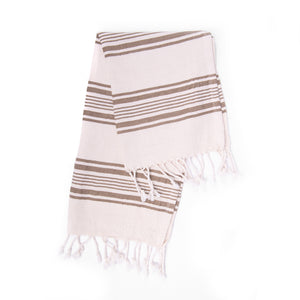 Turkish Towel, Peshkir, Hand Towel - Brown
