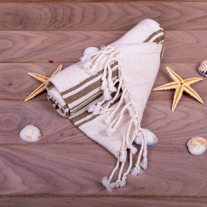 Turkish Towel, Peshkir, Hand Towel With Background - Brown