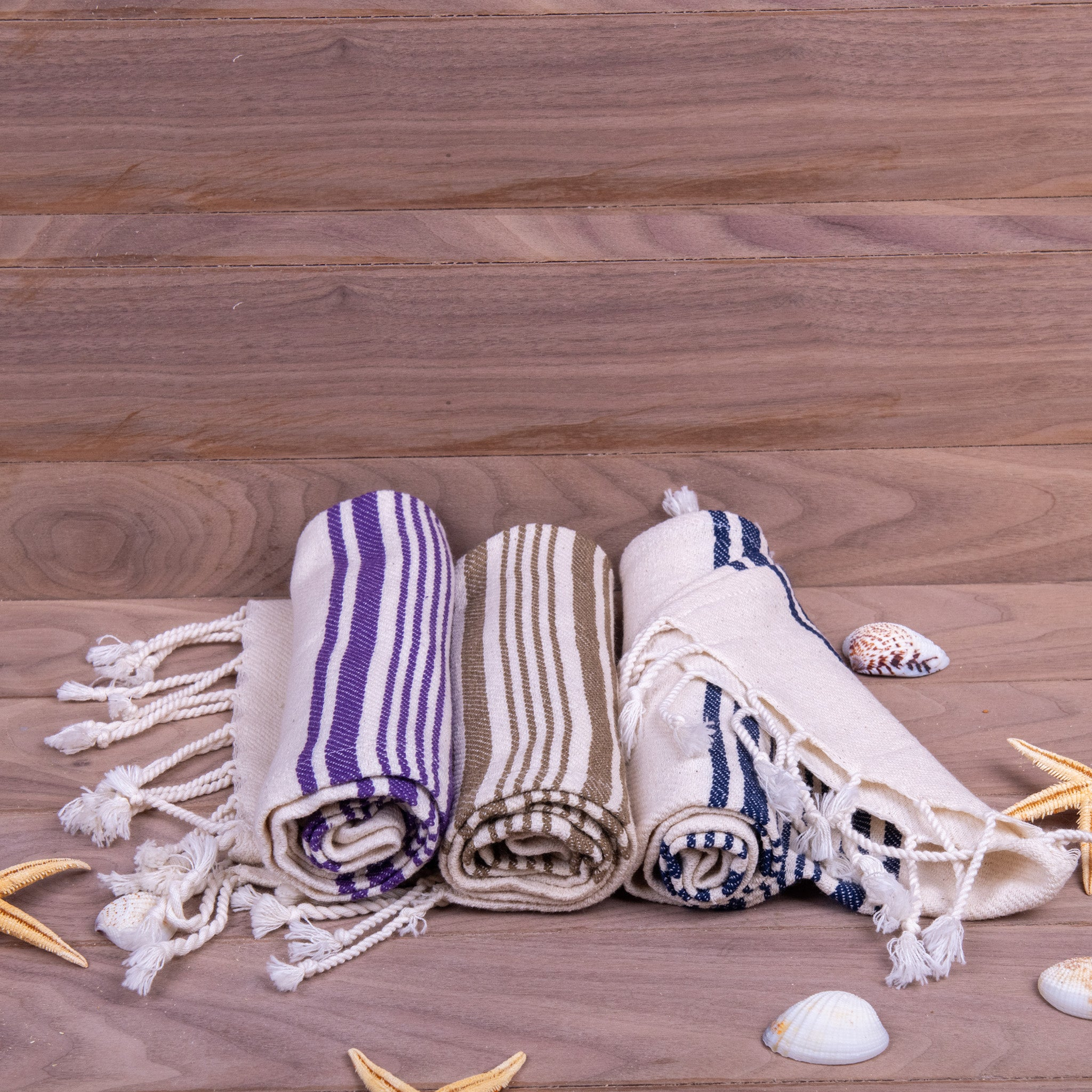 Turkish Towel, Peshkir, Hand Towel Set Of Three With Background