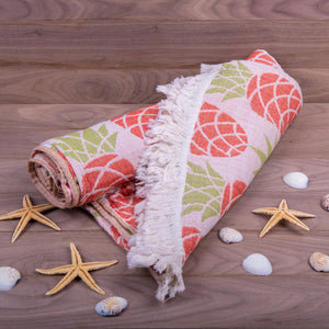 Turkish Towel, Pineapple Design Peshtemal With Background - 01