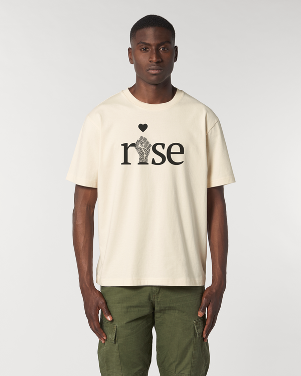 'RISE' NATURAL WOMENS UNISEX T-SHIRT
