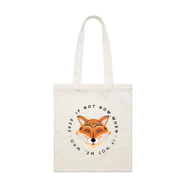 OM FOX NATURAL TOTE