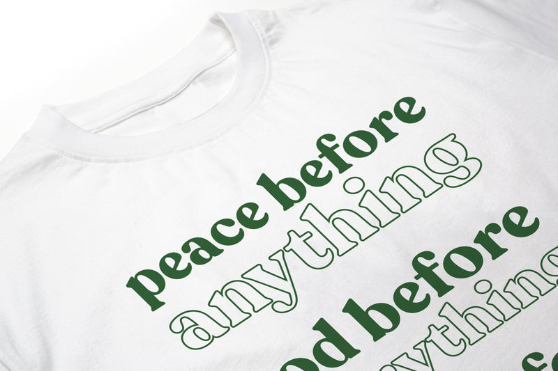 Peace Before White Men's T-Shirt