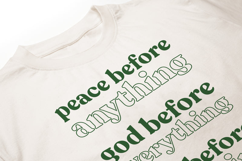 Peace Before Natural Men's T-Shirt