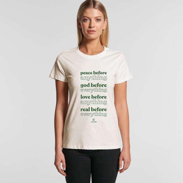 Peace Before Natural Women's T-Shirt