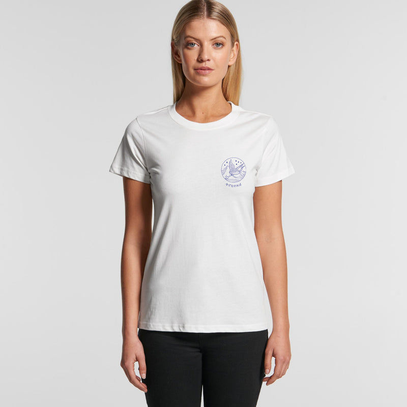 Flying Crane White Women's T-Shirt