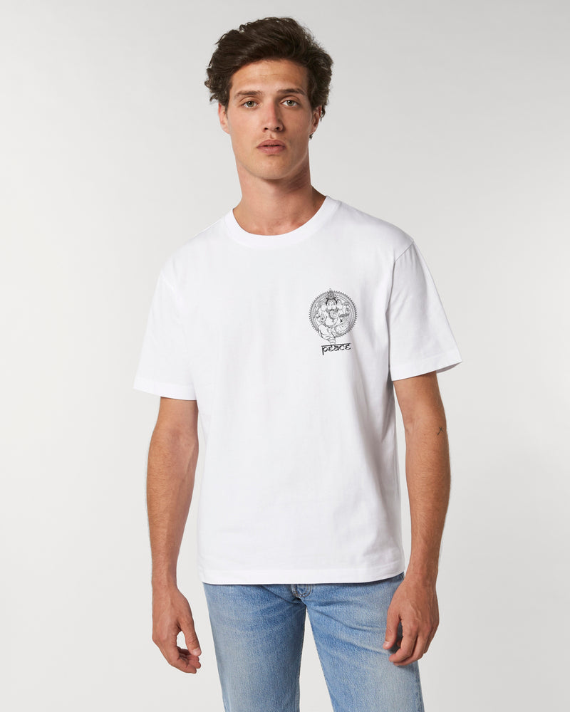 GANESH WHITE POCKET UNISEX T-SHIRT