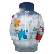 Load image into Gallery viewer, Autism Sky 3D - Sweatshirt, Hoodie, Pullover - Support Autism Awareness