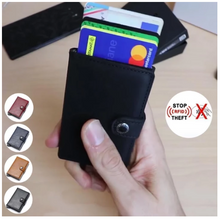 Load image into Gallery viewer, SAFE RFID BLOCKING BUSINESS WALLET