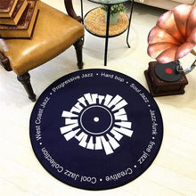Load image into Gallery viewer, CD Carpet Mat Cushion Antique Sofa Chair Cushion Side Carpet Cat Vinyl Record Round A Few Study Model Room Decorate Rug