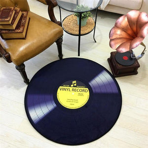 CD Carpet Mat Cushion Antique Sofa Chair Cushion Side Carpet Cat Vinyl Record Round A Few Study Model Room Decorate Rug
