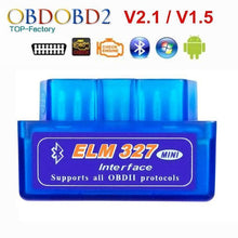 Load image into Gallery viewer, 2018 Super Mini ELM327 Bluetooth V2.1 / V1.5 OBD2 Car Diagnostic Tool ELM 327 Bluetooth For Android/Symbian For OBDII Protocol