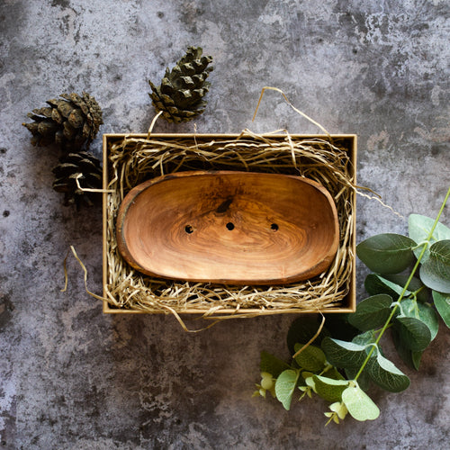 Natural - Handmade - Rustic - Olive Wood - Soap Dish - Gift - Accessories - Plastic Free - Eco Friendly - Ethical