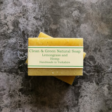 Load image into Gallery viewer, Lemongrass and Hemp Handmade Soap - Free from Parabens, palm oil and are environmentally friendly
