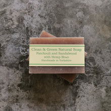 Load image into Gallery viewer, Patchouli & Sandalwood with Hemp Bran - Natural - Handmade - Soap Bar