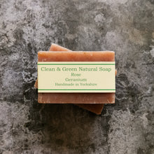 Load image into Gallery viewer, Rose Geranium - Natural - Handmade - Soap Bar