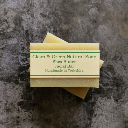Shea Butter Facial Bar - Handmade - Natural