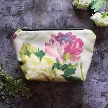 Load image into Gallery viewer, Handmade - wash bag - make up bag - made in yorkshire - plastic free - eco friendly - ethical - gift - present