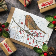 Load image into Gallery viewer, Rustic Robin Christmas Card