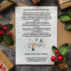 Rustic Robin Christmas Card