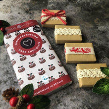 Load image into Gallery viewer, Christmas Pudding Chocolate & Rustic Red Christmas Favour Gift Set
