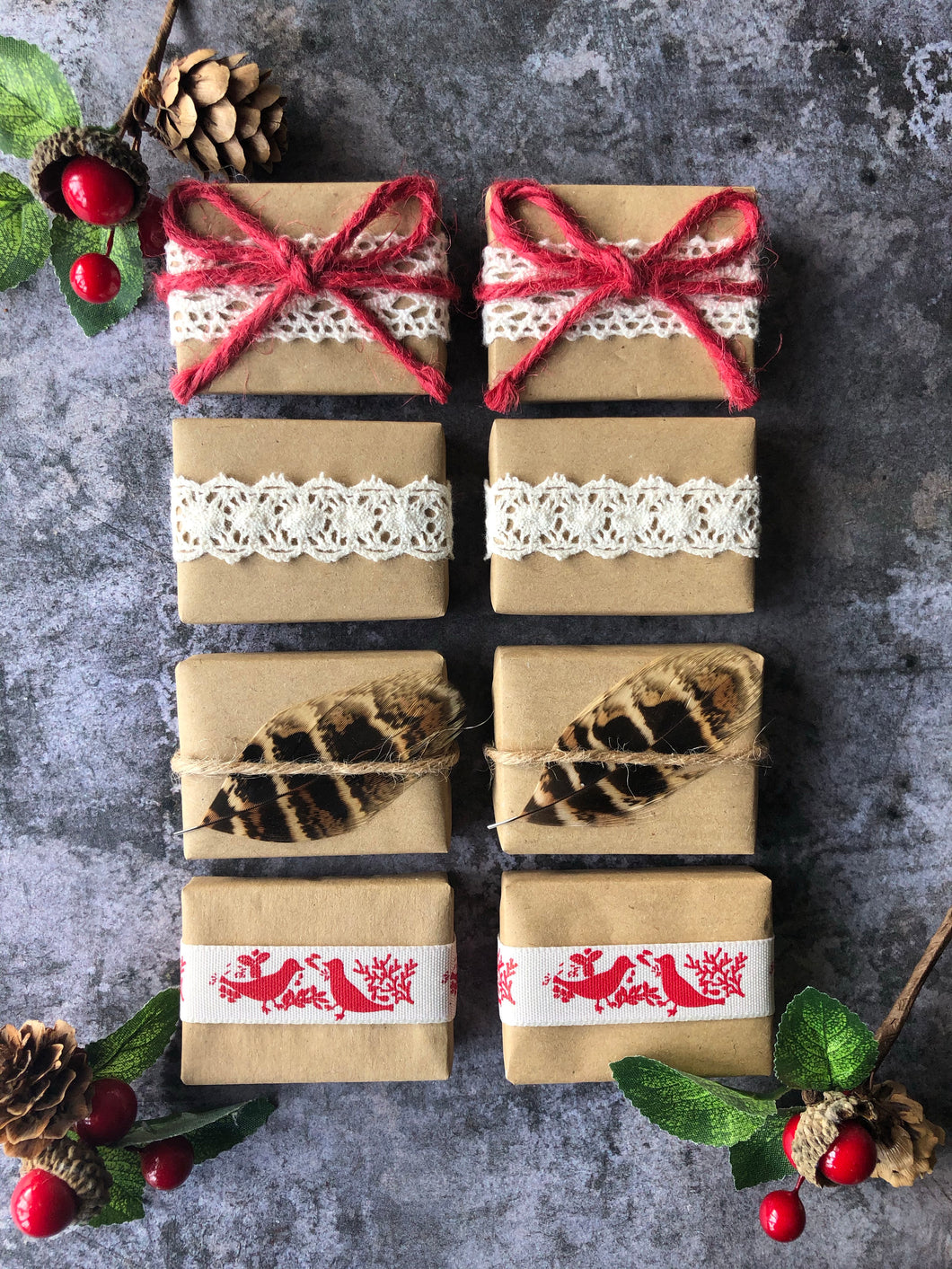 Rustic Red Christmas Favour Gift Set