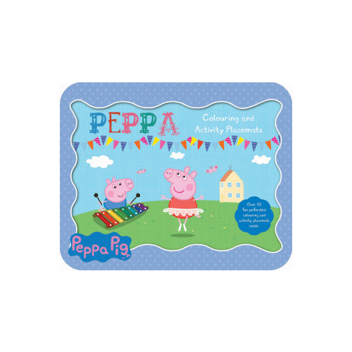 Peppa Pig Colouring and Activity Placemats Kids Activity and Learning