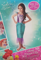Ariel The Little Mermaid Costume 3-5 Years Dress Up for Kids / Children