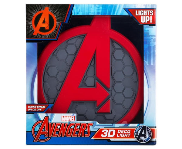 Avengers Emblem/ Logo/ Shield 3D Deco Light- Wall Night LED Lamp for Kids